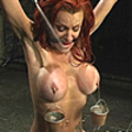 She'S tied, spanked and tortured with water