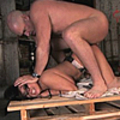 An horny boss fuck his secretary really hard in his dungeon