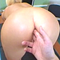This blonde getting her first time anal