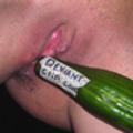 Horny julie fuck a cucumber for deviantclip