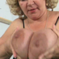 Granny's titties are so big she can self suck