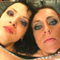 Two sexy brunettes get facialized after a rough threesome fuck