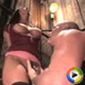 Busty brunette in first time bondage and sex domination