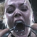 Submissive blonde in hard bdsm action