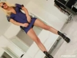 Hot blond in POV action