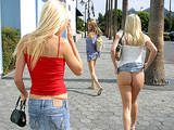 Asses In Public - Cali Girls taking in some sun