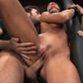 Bitch slave brutally fucked in public