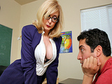 Big Tits At School -  Fitting in with Nina Hartley