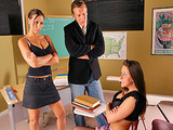 Big Tits At School -  Double Trouble with Rachel & Rachel