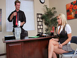 Big Tits At Work - Boss Makes The Rules with Jessica Lynn