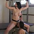 Nice scene of bondage with two lesbians from BondageOrgasms.com