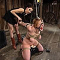 This sexy slaves is bounded, shocked and forced to cum
