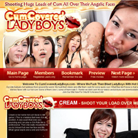 Cum Covered Ladyboys