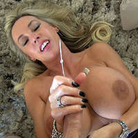 Mature handjob big cock