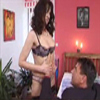 Darkhairy MILF strips for her younger cousin to get him in the mood