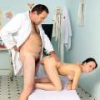 Horny doctor loves young patients