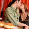 Donut loving slut uses her juices to glaze one for dessert